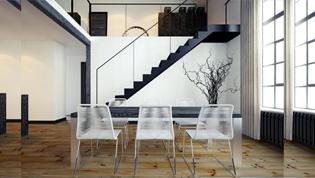 原木混搭工业风 120平米现代LOFT公寓
