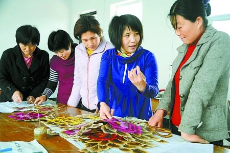 汝南麦草画带400多名妇女就业