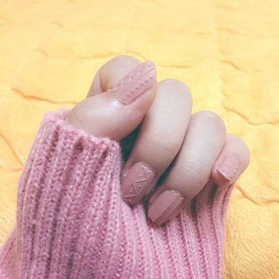 毛线贴画衣服-针织 贴纸给指甲穿毛衣