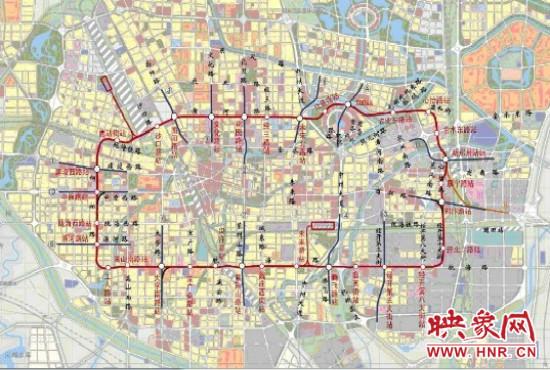 郑州地铁5号线线路图.-郑州地铁5号线3站点围挡施工图片