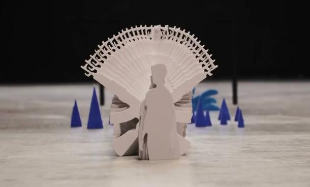 创意满满 2万张纸拍出的定格动画