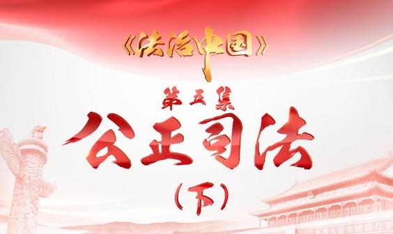 《法治中国》第五集 公正司法(下)