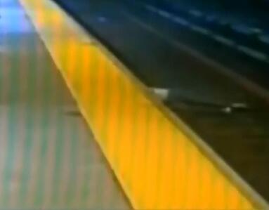 美国 :劫匪将受害男子推下铁轨