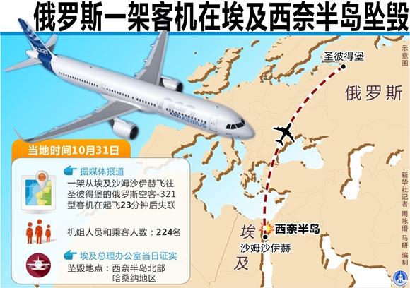 埃及官方确认俄失联客机坠毁