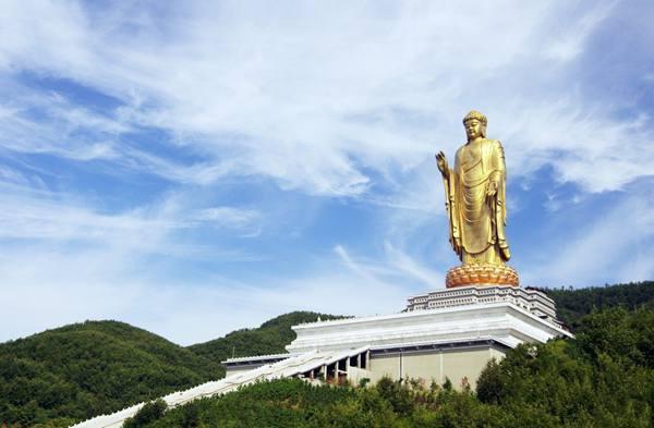 平顶山·尧山·中原大佛高清图片