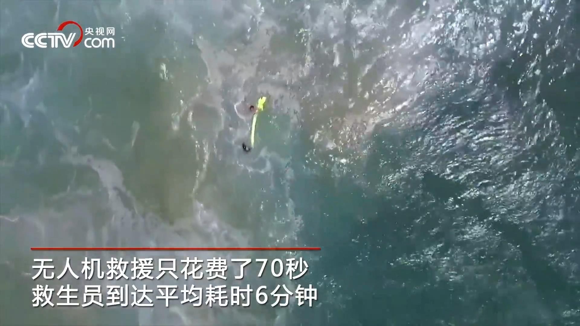 无人机70秒救助海中溺水者